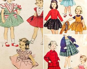 3 VTG 50's Child's Jumper/Jacket/dress Sewing Patterns Toddler  0260