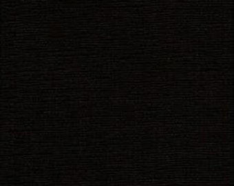 "LAMINATED Cotton  - Solid Black, 56"" Wide, BPA & PVC Free"