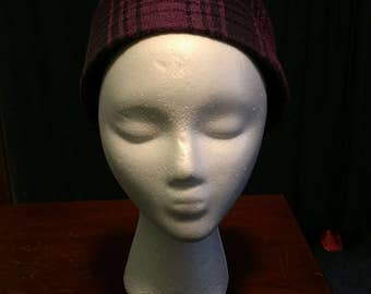 Pill Box Hat (purple and blue)
