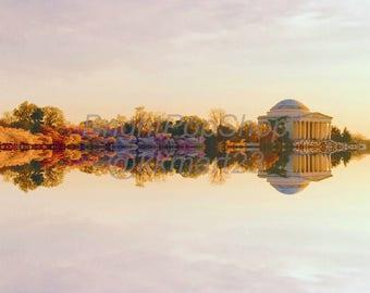 Jefferson Memorial Instant Download, Digital Art Print 12x12 & 24x24