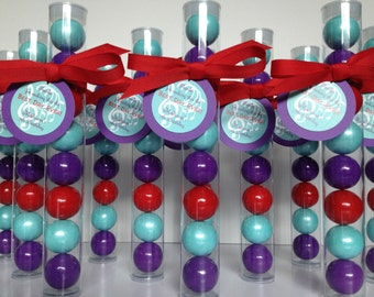 Tween Music Band party, tween  birthday Party, tween girls party Gumball tube party favors, set of 12