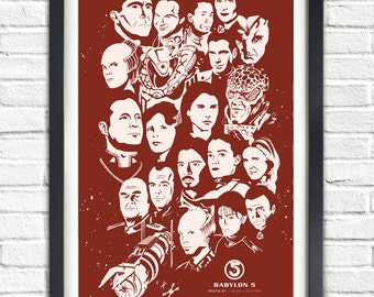 Babylon 5 - ALL CHARACTERS - 19x13 Poster
