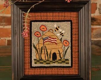 SALE Glory Bee Punch Needle Embroidery
