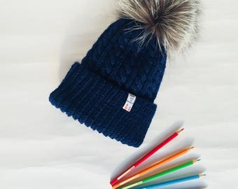 Warm and soft winter hat for elegant woman