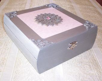 Wood Box, Decorative Wood Box, Keepsake Box