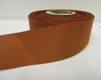 Grosgrain Ribbon 3mm, 6mm 10mm 16mm 22mm 38mm 50mm Rolls, Copper Gold Brown, 2, 10, 20 or 50 metres, Ribbed Double sided,