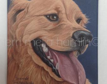CustomDog Portrait, 8x10 Pet Portrait, Custom Pet Portrait, Painted Pet Portraits, Dog Portrait Custom, Acrylic Painted Portrait