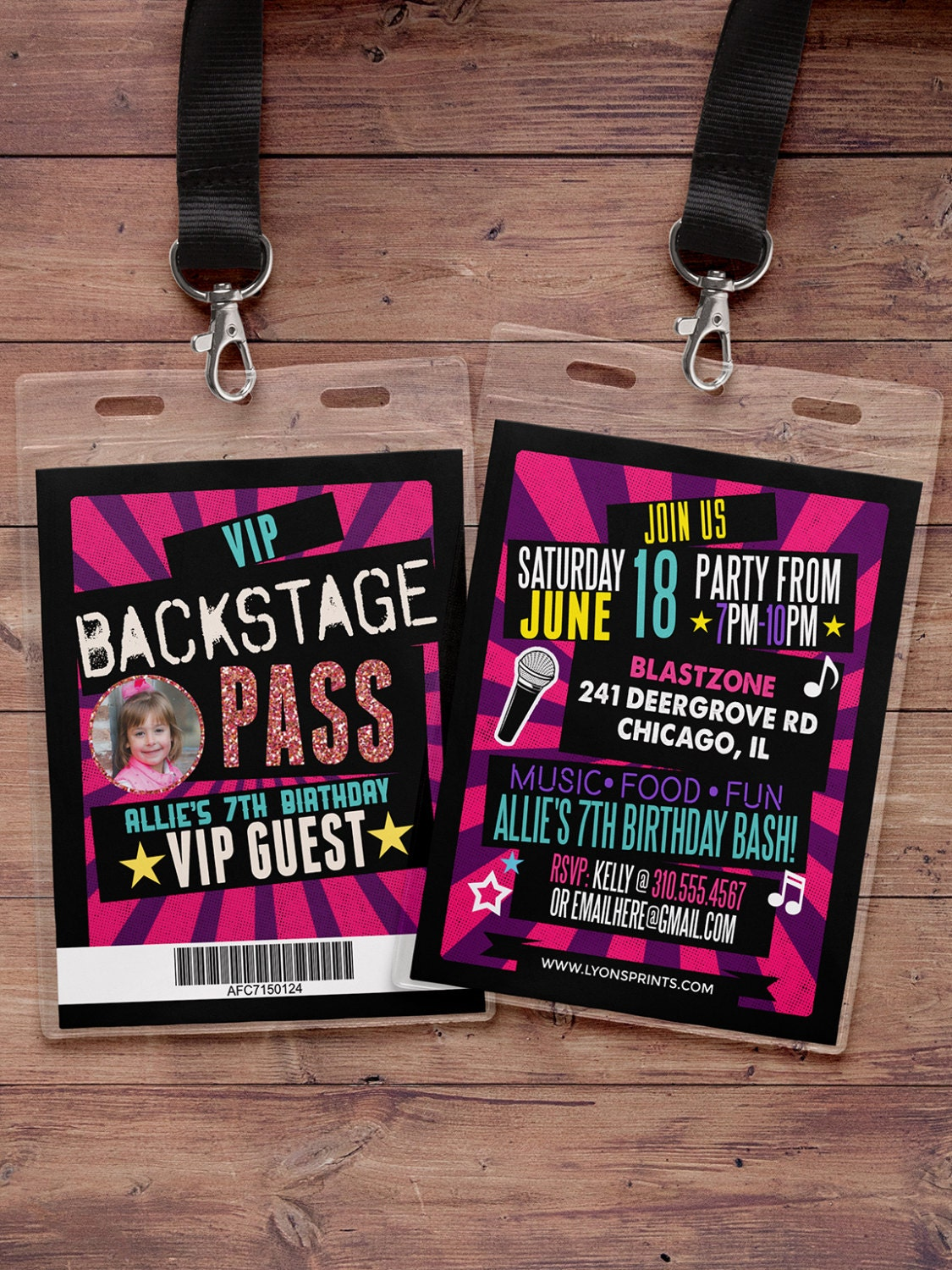 Vip Pass birthday invita...