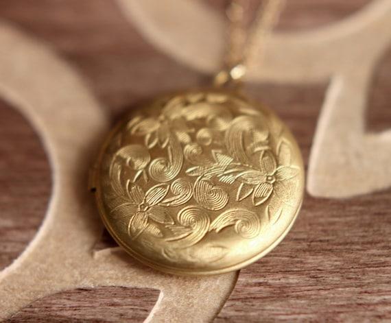 Locket necklace locket pendant gold locket necklace gold aloadofball Image collections