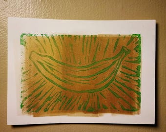 Platano Power Linocut Print