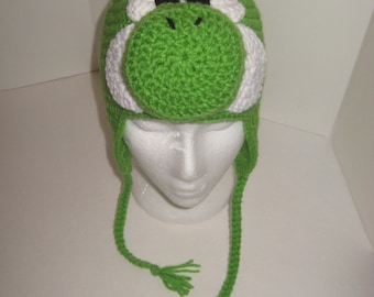 Adult Yoshi Ear Flap Hat