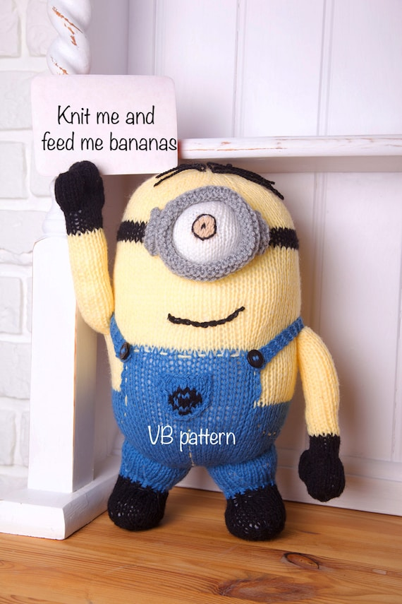 Minion soft toy knitting pattern. You will love it Instant
