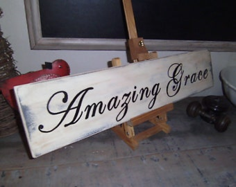 Amazing Grace Sign , Amazing Grace Wood Sign, Amazing Grace Wall Art
