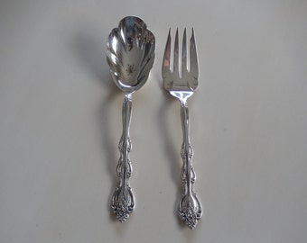 INTERNATIONAL SILVER PLATE Spoon and Fork Serving Utensils