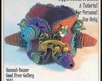JUST RELEASED - Zipperlicious Cone Steampunk Bracelet - Seed Beads, crystals and Glass Bead Tutorial - by Hannah Rosner - Intermediate Level
