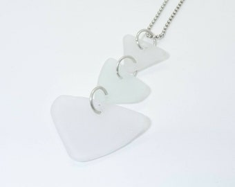 Sea Glass Arrow Pendant Necklace Beach Lover Ocean Mermaid - Prima Donna Beads