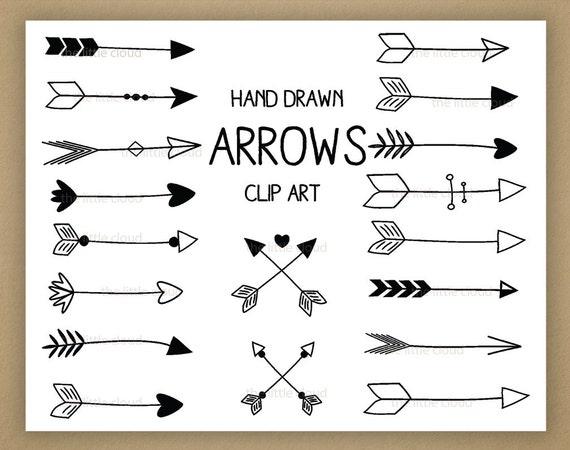 black hand drawn arrows clipart a set of 18 rh etsy com arrows clipart png arrow clip art free images