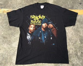 VTG Naughty by Nature 1993 Promo Bootleg T-Shirt DeadstocK