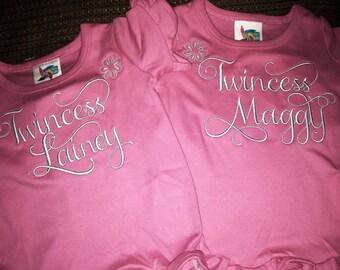 Twincess Tshirts (set of 2)