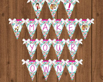 Art Banner, Art Birthday Party, Art Birthday Banner, Girls Birthday Banner, Instant Download
