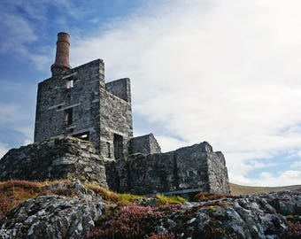 Ireland, Irish Miners, Cornish Man Engine, Beara Peninsula, Butte, Allihies, Copper, Patchwork, Mountain, Landscape, Smokestack, County Cork