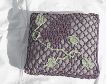 purple cushion with wine grape