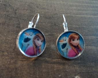 Anna and Olaf  earrings