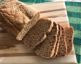 Recipe for No-Knead Traditional Sourdough Einkorn Bread