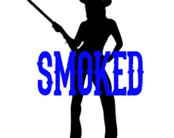 Smoked Car Decal / Cowgirl Decal / Smoked Cowgirl Decal / Cowgirl car decal / smoked decal