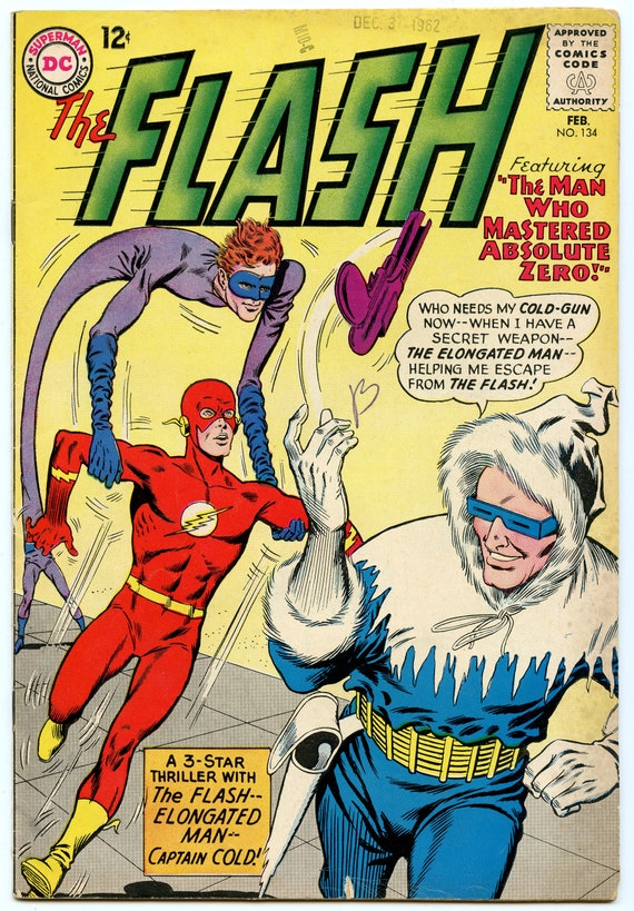 Flash 134 Feb 1963 VG-FI (5.0)