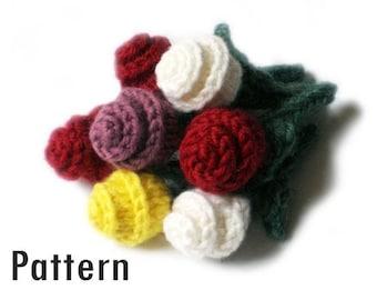 PDF Pattern / Tutorial - Miniature Roses - Knitting
