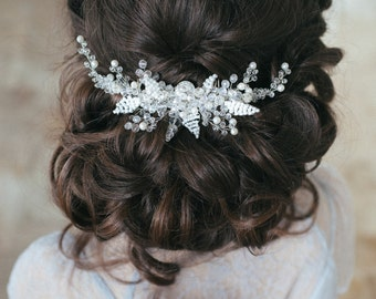 Bridal Hair Comb, Pearl and Crystal Comb, Wedding Hair Accessory