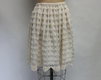 CUSTOM Winter White Chenille Skirt YOUR SIZE