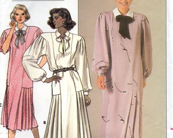 1980s Butterick Sewing Pattern 3525 Claudia Cooper Loose Fitting Straight Dress Size 24