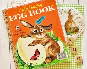 The Golden Egg Book by Margaret Wise Brown/1975 Vintage Edition/A Little Golden Book/Easter Book