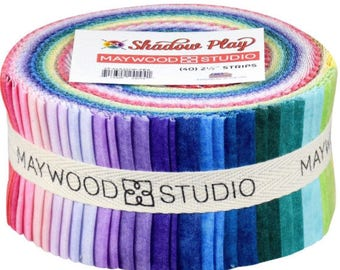 Shadow Play Peaceful jelly roll by Maywood Studio