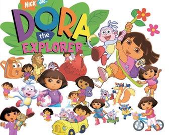 Dora The Explorer 60 Clipart -Digital-ClipArt-PNG-image- PNG Images-Digital Clip Art background-Dora Scrapbooking-Instant Digital