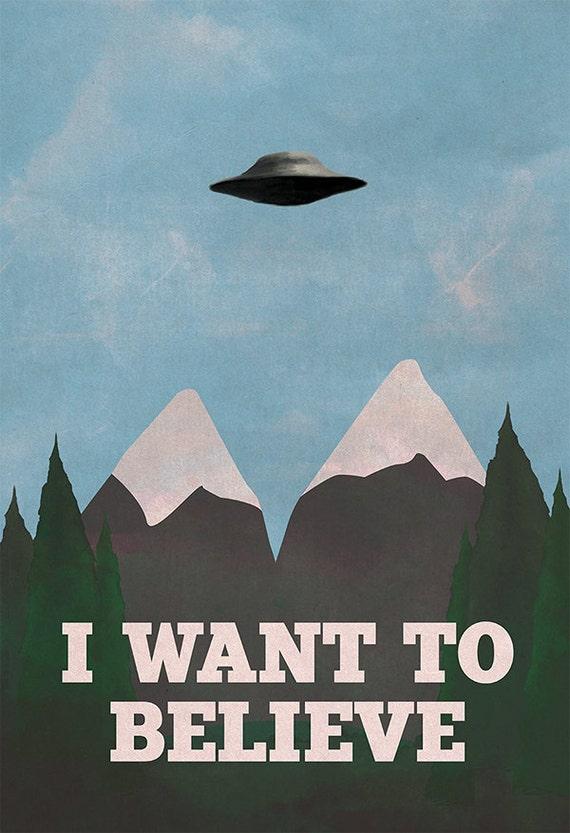 X Files Twin Peaks Mashup 8x10 11x17 Or 13x19 Poster TV