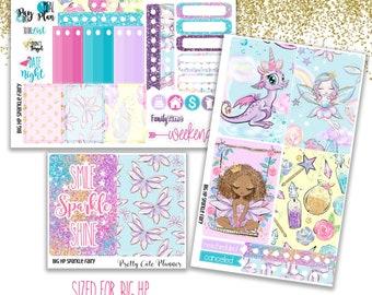 Fairy BIG Happy Planner Planner Stickers - Weekly Planner Sticker Set - Functional stickers - Fairy planner stickers - Sparkle Fairy Sticker