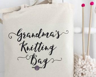 Grandma's Knitting Bag | Granny's Knitting | Knitting Gift | Personalised Knitting Bag