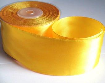 1 m 40mm yellow satin ribbon