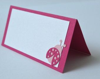 Ladybug Pink Food Labels