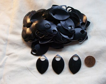 Dragon Scales - Aluminum - Large - Black - Sets of 100