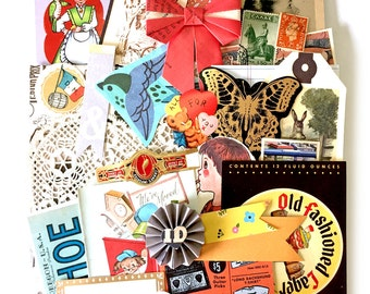 Bits and pieces scrap pack - Vintage paper scraps 1