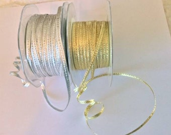 Metallic ribbons in gold and silver, consolidation SALE