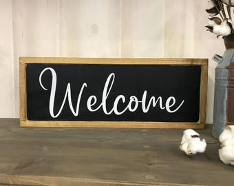 Welcome sign, farmhouse welcome sign, welcome
