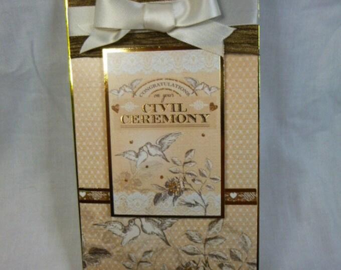 Wedding card, Civil Ceremony Card, Partnership, Couple, Male or Female,