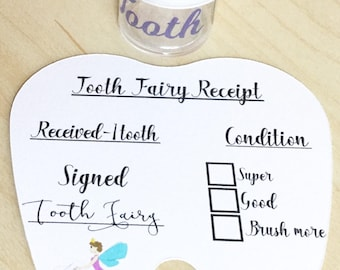 Tooth Fairy Set - Tooth pot, Tooth Fairy, Tooth Fairy receipts, tooth loss, pillow pot, tooth container, Tooth Fairy pot, loose tooth