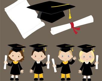 Graduation Clip Art - Yellow and Black