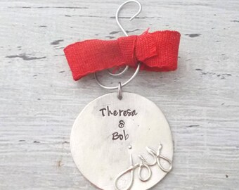 Personalized Christmas Ornament, Personalized Christmas Decoration, Christmas Ornament, Personalized Ornament, Joy Christmas Decor